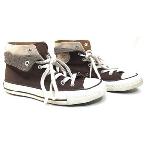 Brown Metallic Flip Over Layer All Star Hight Top